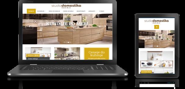 Spletna stran kuhinje Domestika